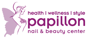 Logo papillon nail & beauty center, niederlenz